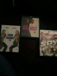 Dvd movies $5 for all 3 2345 mi