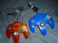 blue and red Nintendo 64 game controllers Strathroy, N7G