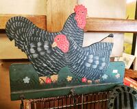 two black-and-red chicken wooden board decor Wasaga Beach, L9Z 2N9