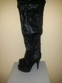 Leather Bakers Heel Boots