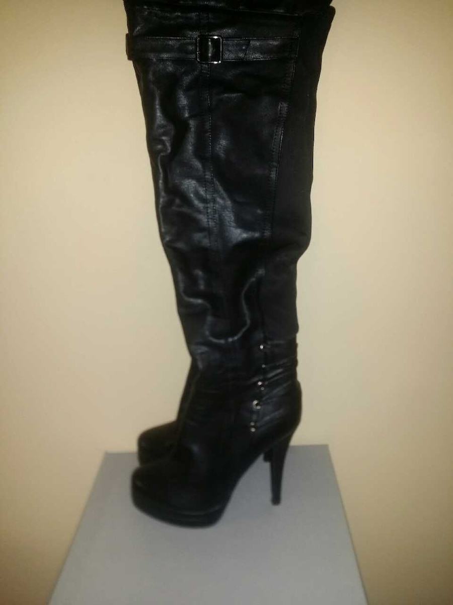 Leather Bakers Heel Boots  - Sandy Springs