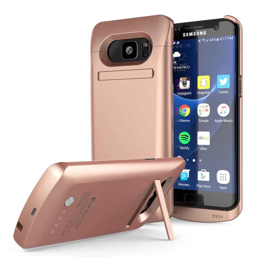 Brand new GALAXY S7  BATTERY CASE, PUNKCASE 5200MAH CHARGER CASE KICKSTAND [ROSE GOLD]