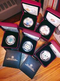 5 $20 silver Canadian Collector coins with Swarvsk Toronto, M6R 2B2