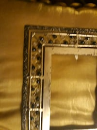 Antique Metal/Bead Picture Frame