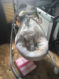 Baby's white and gray cradle n swing North Franklin, 06254