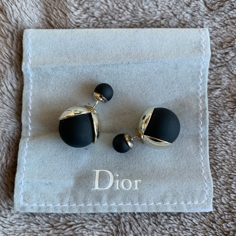 Authentic Dior tribal earrings