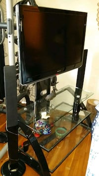 TV stands 2 and DVD stereo w/Samsung stereo and speakers for $50 more