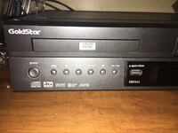 black Goldstar DVD player with VHS combo