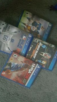 4 Sony PS4 games  Salem County, 08072