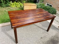 Wooden table with optional extended leaf Brampton, L6S 2M5