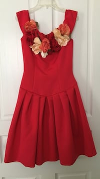 Unique couture vintage red floral formal xs/2 Oklahoma City, 73145