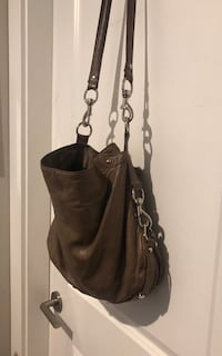 Large authentic rebecca minkoff cross body bag ~ taupe/grey leather ~ retails $550+ 3719 km