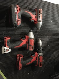 Set of impact drill and driver