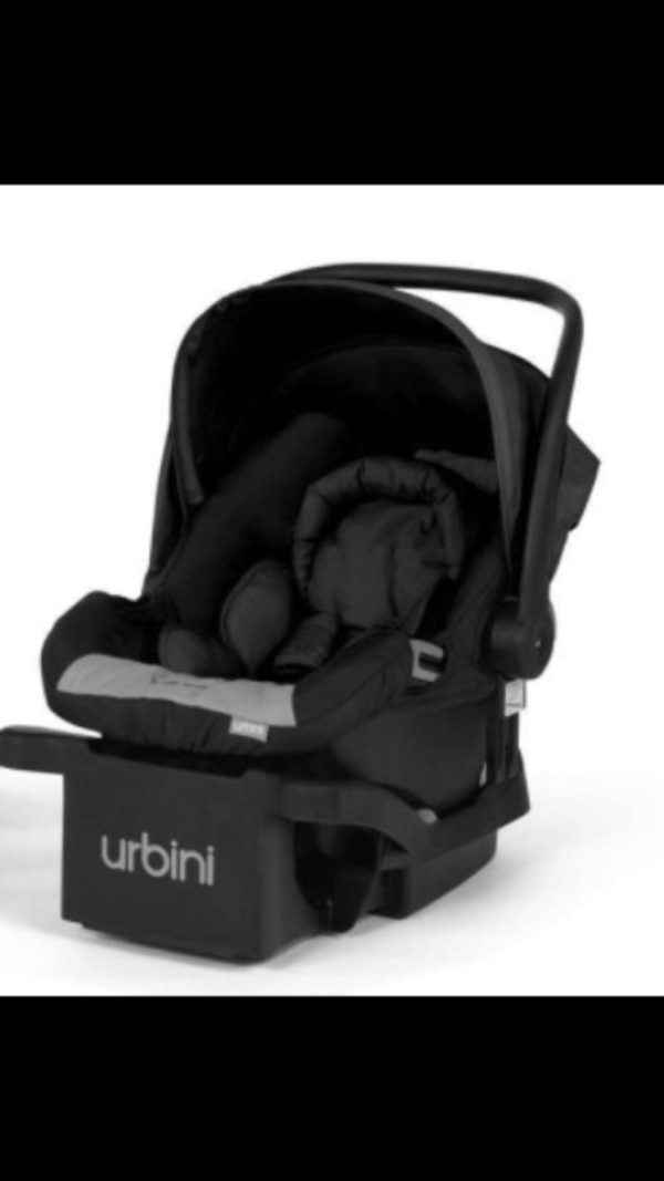 Used Black Urbini Omni Stroller Car Seat And Base For Sale In St