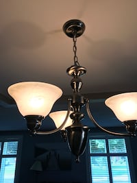 black and white uplight chandelier St Catharines, L2M