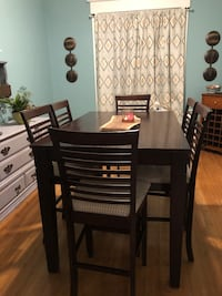 Counter height dining table with chairs