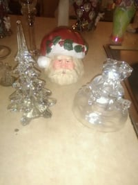 Crystal Christmas tree &clear/frosted snowman North Charleston, 29406
