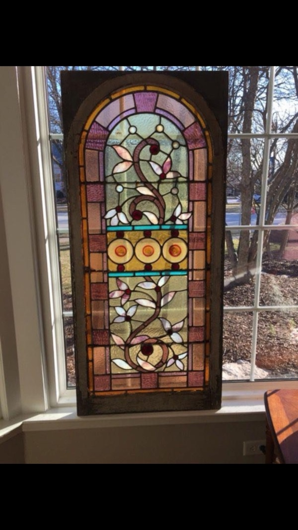 Large Stained Glass Window.Large Stained Glass Window