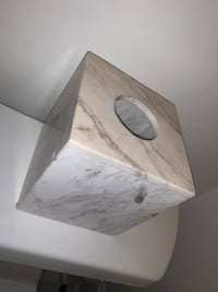 Real marble tissue box