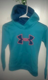 blue and green Under Armour pullover hoodie Waterloo