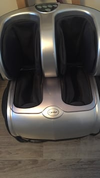 Silver and black Comfort calf massager
