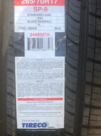 265/70/17 SUV/Truck Tires  Virginia Beach, 23453