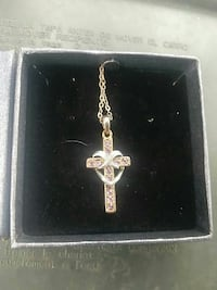 gold plated costume necklace with cross pendant Frederick, 21701
