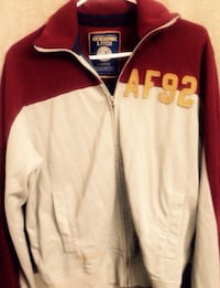 ABERCROMBIE & FITCH maroon, yellow and grey zippered jacket.  Brentwood, 94513