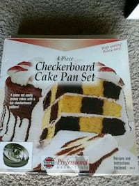 Checkerboard cake pan set 4 piece Alexandria, 22306