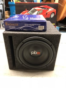 "12"" Powerbass Subwoofer in Ported Box with Amp - Like New"