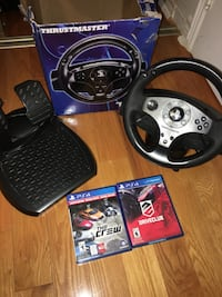 Thrustmaster PS4/PS3 Gaming Wheel With Two Games Toronto, M1B 5C1