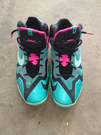 Pair of Turquoise and Black Nike Lebron VIIII Scottsboro, 35768