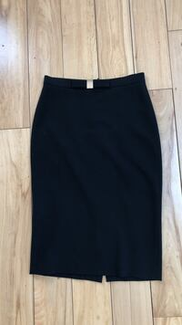 High-Waisted Black Dress Skirt with Gold Detailing  Toronto, M6R 2T8