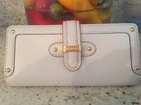 white leather Michael Kors tote bag
