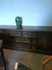 brown wooden dresser with mirror Burnaby, V5A 4G2