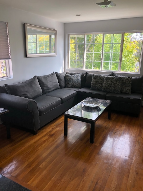 Used Bobs Furniture Gray Sectional Couches 7 Months Old For Sale In