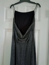 Silver/black bare back dress. Clarksville, 37042