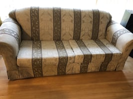Two Sofas and a arm chair need gone ASAP pickup only, first come first serve