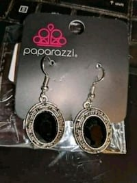 silver-colored and black gemstone earrings Greenville, 27834