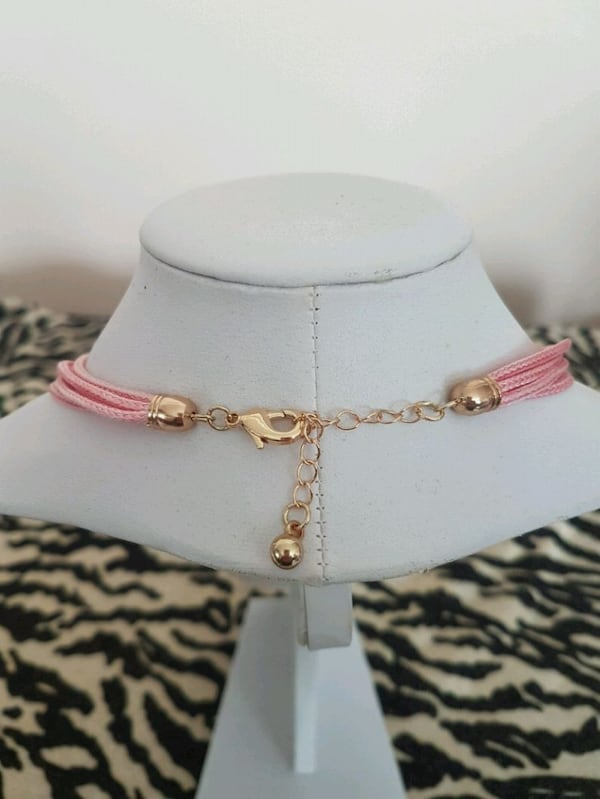 Pink & Gold necklace 1