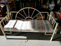 White metal antique cushioned bench  60 km