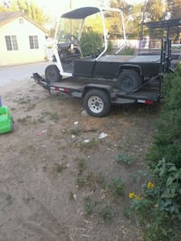 black and gray utility trailer Bloomington, 92316