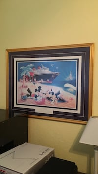 Mickey and Minnie mouse at the beach artwork with frame Davenport, 33837
