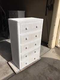 White wicker 3-drawer dresser Los Alamitos, 90720