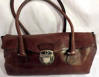 Brown leather handbag Edina, 55435