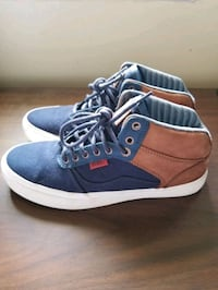 Vans size 8 blue and brown like new