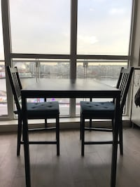 Black wooden table with 2 chairs  3749 km