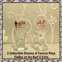 2 COLLECTIBLE GLASSES OF FAMOUS PLAYS Ontario, 91762