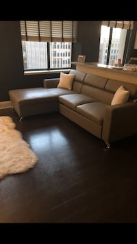 Grey leather sectional sofa  Los Angeles, 90017