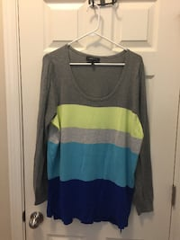 Women's 18/20 - Grey/Green/Blue Sweater